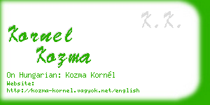 kornel kozma business card